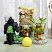 Composed Buddha Hamper: Lucky Bamboo Bengaluru