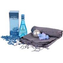 Cool Blue N Grey Hamper: Perfumes for Birthday