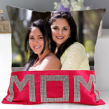 Dazzling Mom Cushion: Personalised Gifts Shahjahanpur