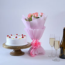 Elegant Wishes: Flowers & Cakes for Mothers Day