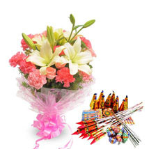 Exotic Bouquet N Crackers: Send Crackers
