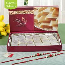 Half Kg Kaju Sweets And 2 Rakhis: Rakhi Express Delivery