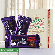 Hamper of fruit n nut chocolates: Rakhi to Jalna