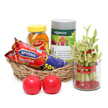Healthy Hamper with Bamboo: Send Womens Day Gift Baskets