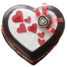 Love In Abundance Cake: Send Heart Shaped Cakes to Bengaluru