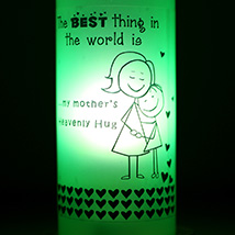 Mothers Hug Bottle Lamp: Send Home Decor Gifts for Her