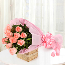 Passionate Pink:  Roses for Husband