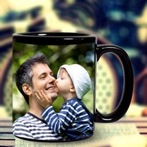 Personalized Black Mug: Fathers Day Personalised Mugs