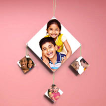 Personalized Cherish The Time: Send Rakhi With Photo Frames