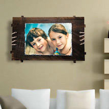 Personalized Lovable Moment: Rakhi With Photo Frames