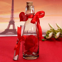 Personalized Love Message Bottle: Valentines Day Gifts