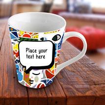 Personalized Vibrant Mug: Valentine Personalised Mugs