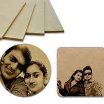 Personalized Wooden Photo Coasters: Coasters