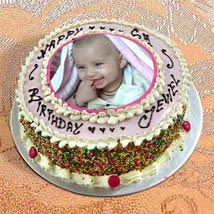 Photo Cake Vanilla Sponge: Photo Cakes to Kanpur