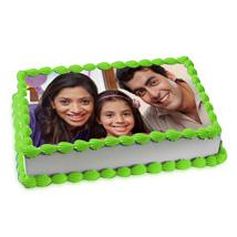 Pineapple Photo Cake: Send Photo Cakes