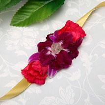 Pink And Purple Beauty: Fresh Flower Rakhi