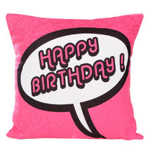 Pink Birthday Cushion: Send Cushions