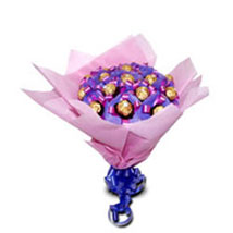 Pink Ferrero Love: Chocolate Bouquet for Kids