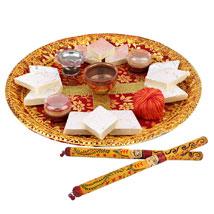 Puja Thali and Dandiya: Pooja Thali to Thane