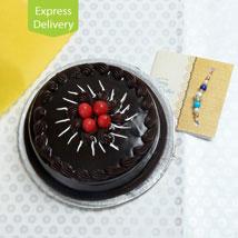 Rakhi Choco Surprise REX12: Send Rakhi with Cakes