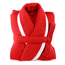 Red and White Bathrobe For Her:  Romantic Gifts for Birthday