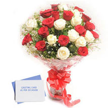 Red N White Roses: Send Flowers & Cards to Hyderabad