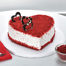 Red Velvet Heart Cake: Propose Day Gifts