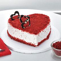 Red Velvet Heart Cake: Valentine Gifts for Him