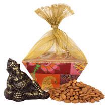 Resting Ganesha Combo: Dry Fruits Gift Packs