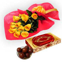 Roses with Gulab Jamun: Flowers & Sweets for Diwali
