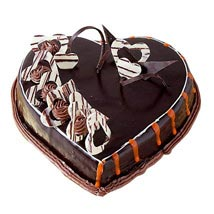 Special Delicious Heart Shape Truffle Cake: Chocolate cakes for birthday