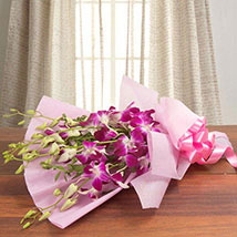 Splendid Purple Orchids: Send Wedding Gifts to Bengaluru