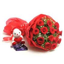 Sweet Romance: Flowers & Teddy Bears - Karwa Chauth