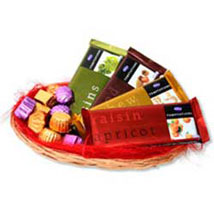 Temptations chocolate Basket: Mothers Day Gift Baskets