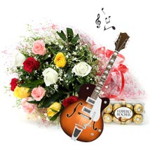 The Notes of Love and Happiness: Flowers & Chocolates for Holi