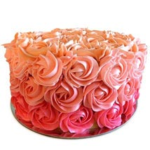 Three Row Rose Cake: Valentines Day Designer Cakes