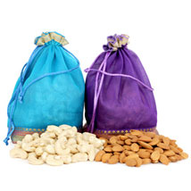 Two Dry Fruits Potli Bags: Dry Fruits