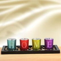 Vibrant Solid Glasses: Diwali Candles