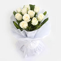 White Roses Bunch: Flowers for Sympathy & Funeral