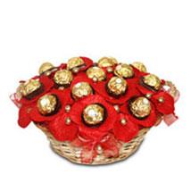 Yummy Ferrero Basket: Send Gift Baskets to Bengaluru