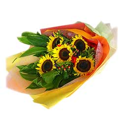 5 Sunflowers Bouquet MAL
