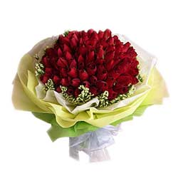 Bouquet of 100s Red Roses MAL