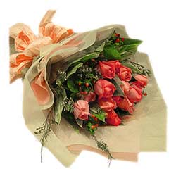 Bouquet of 12s Pink Roses MAL