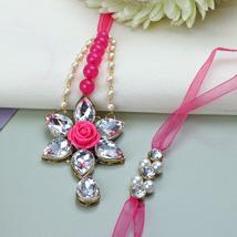 Pink Blushing Lumba Rakhi Set MAL: Rakhi to Malaysia