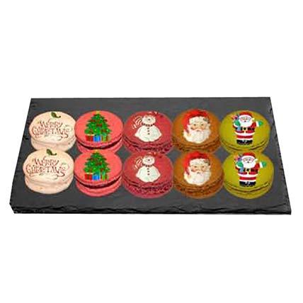 Christmas Printed Macarons