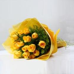 Mellow Yellow Rose Bouquet