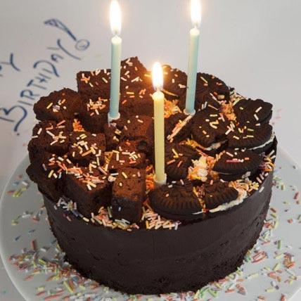 Birthday Sprinkle Chocolate Fudge Cake