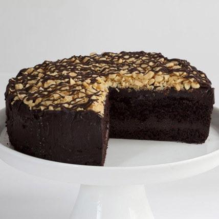 Honeycomb Golden Nugget Fudge Cake
