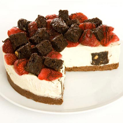 Strawberry Brownie Cheesecake