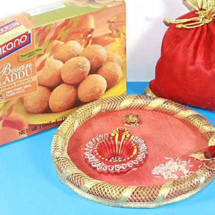 Bhaidooj Wishes with Bikano Laddu